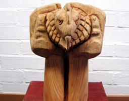 Bildhauer Workshop mit Holz