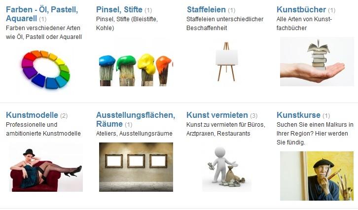 Kunst-Marktplatz-Funktionen